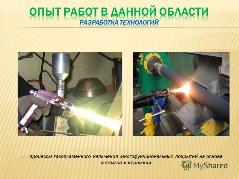 процессы газопламенного напыления многофункциональных покрытий на основе металлов и керамики