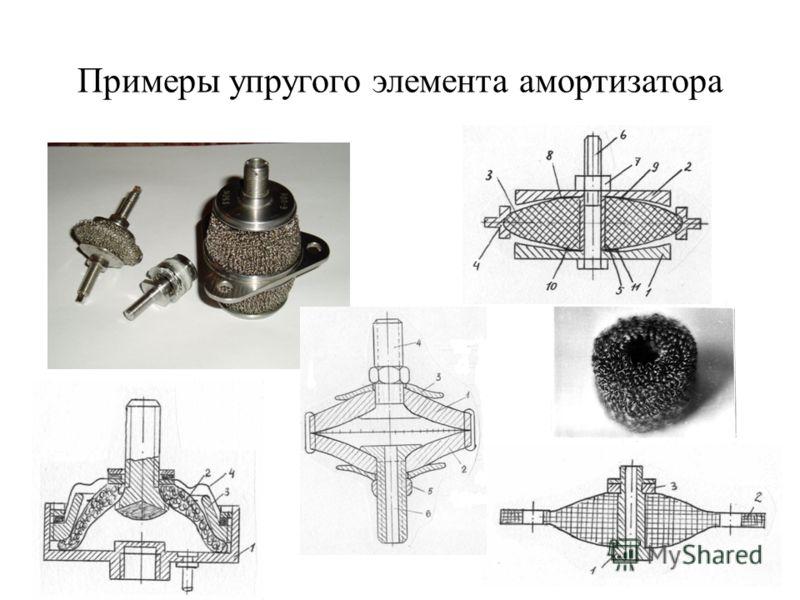 Примеры упругого элемента амортизатора