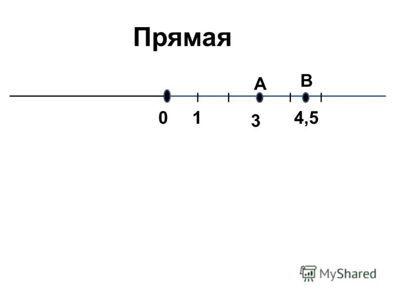 01 Прямая 3 А В 4,5