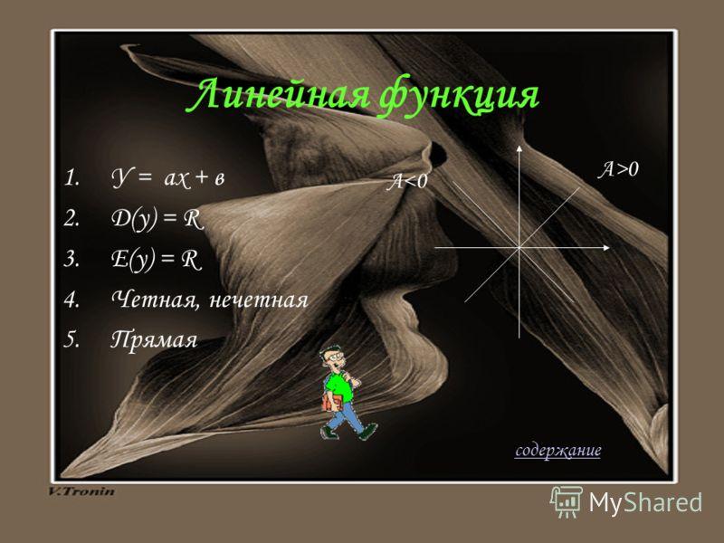 Схема исследования функции 1.Определение 2.Область определения 3.Область значений 4.Четность ( нечетность ) 5.График содержание