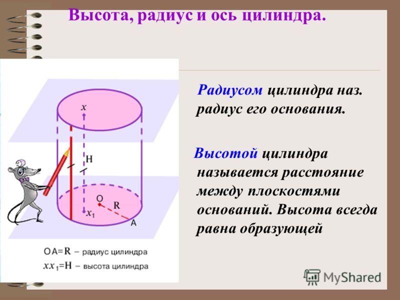Цилиндры бывают прямыми и наклонными в зависимости от того перпендикулярны или наклонны плоскости оснований к образующим. В основаниях могут лежать различные фигуры.
