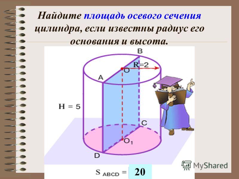 Прямая, соединяющая центры оснований цилиндра, называется осью цилиндра. Сечение цилиндра, проходящее через ось, называется осевым сечением.