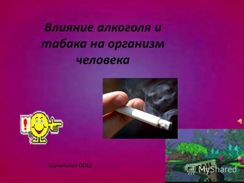 Влияние алкоголя и табака на организм человека Щучейская ООШ