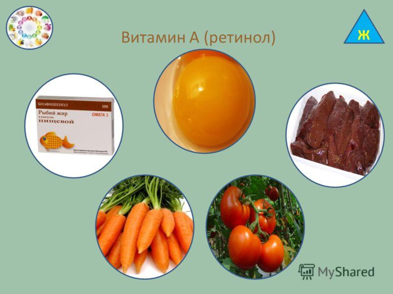 Витамин А (ретинол) Ж