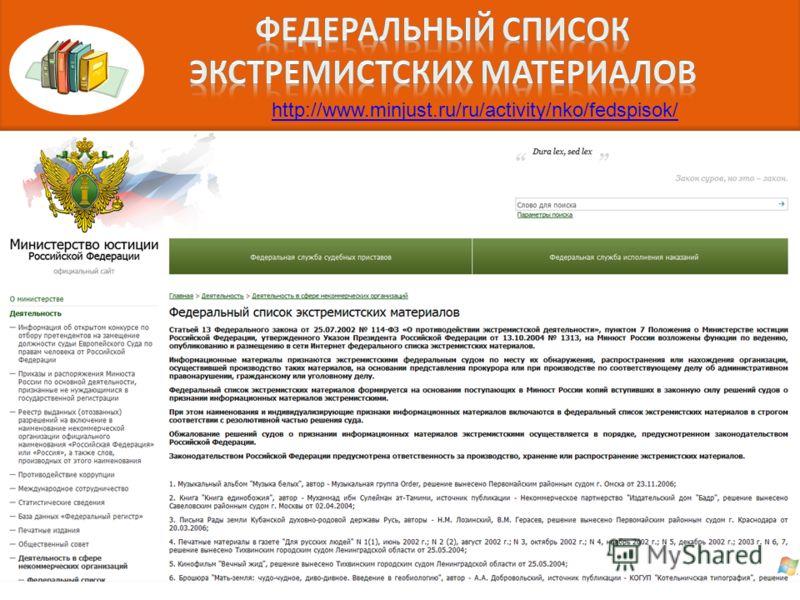 http://www.minjust.ru/ru/activity/nko/fedspisok/
