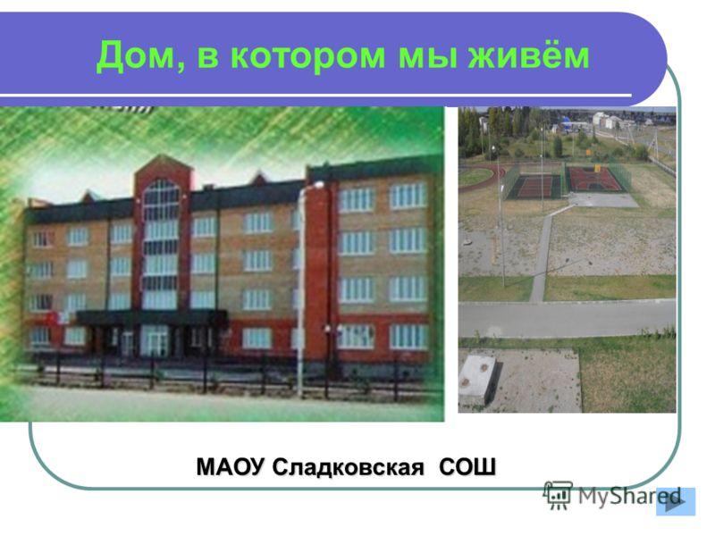 Дом, в котором мы живём МАОУ Сладковская СОШ