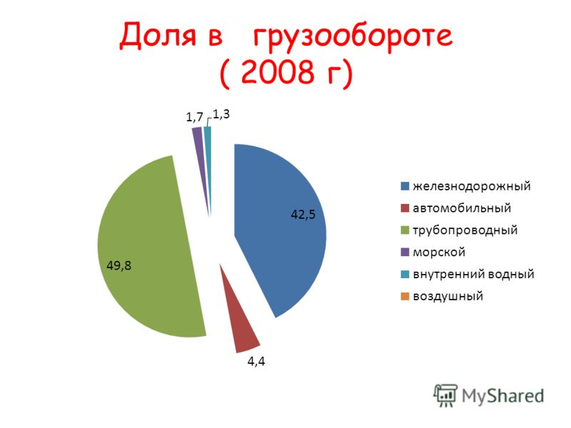 Доля в грузообороте ( 2008 г)