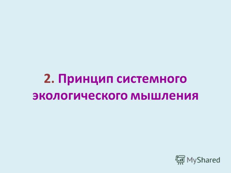 2. Принцип системного экологического мышления