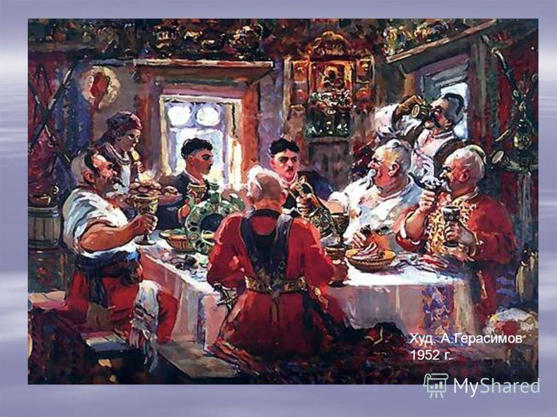 Встреча Тараса с сыновьями. Худ. П.Соколов 1862г.