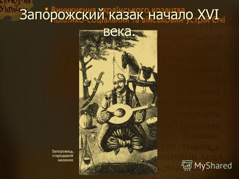 Запорожский казак начало XVI века.