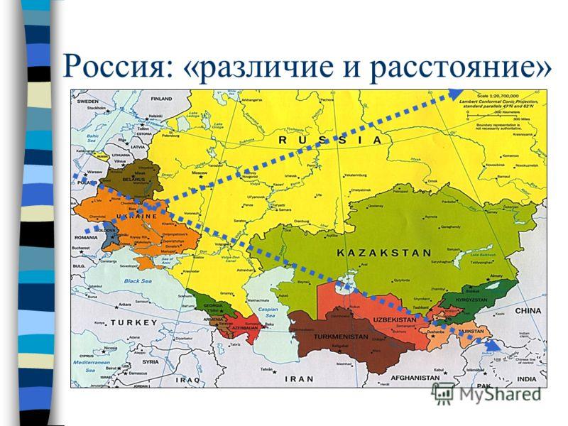 Россия: «различие и расстояние»