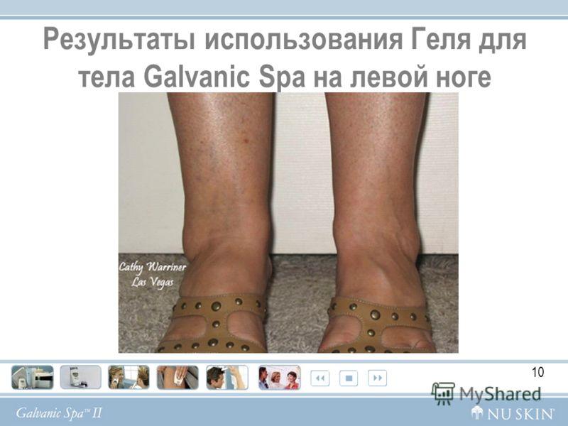 Результаты использования Геля для тела Galvanic Spa на левой ноге 10
