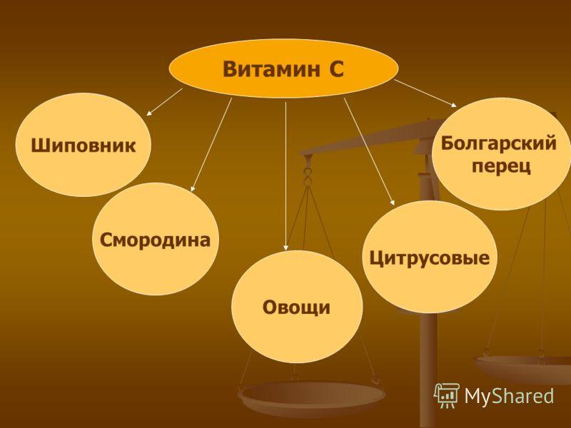 Шиповник Болгарский перец Смородина Овощи Цитрусовые Витамин С