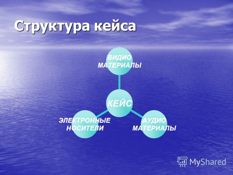 Структура кейса КЕЙС ВИДИО МАТЕРИАЛЫ АУДИО МАТЕРИАЛЫ ЭЛЕКТРОННЫЕ НОСИТЕЛИ