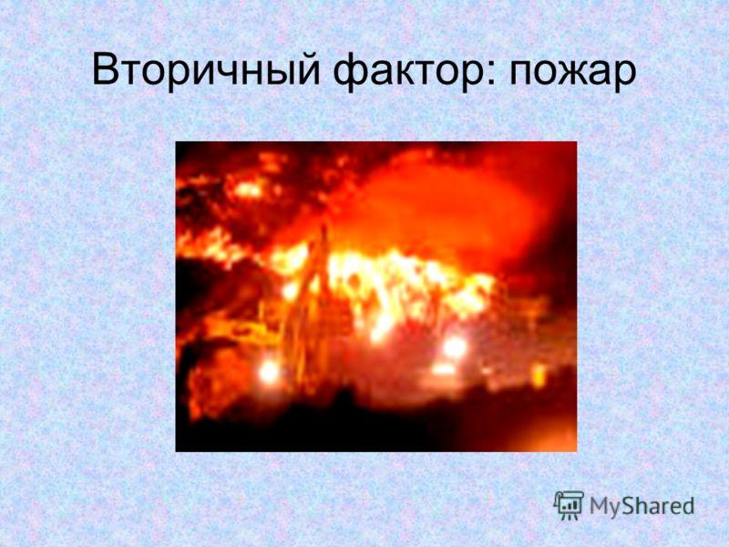 Вторичный фактор: пожар