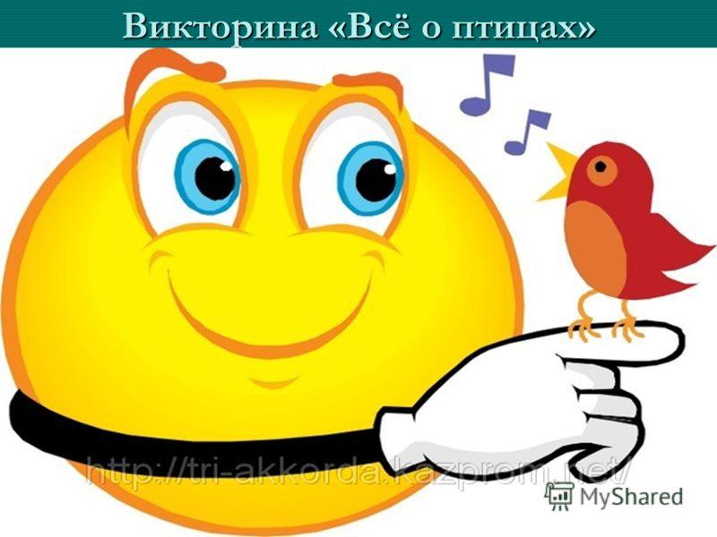 Викторина «Всё о птицах»