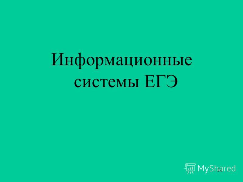 30 Информационные системы ЕГЭ