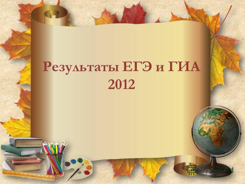 Результаты ЕГЭ и ГИА 2012