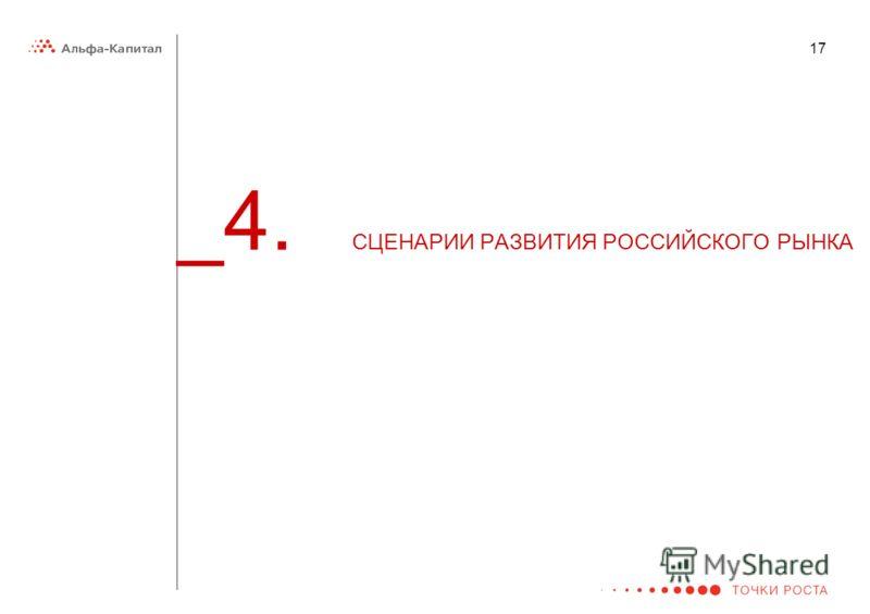 17 _4. СЦЕНАРИИ РАЗВИТИЯ РОССИЙСКОГО РЫНКА