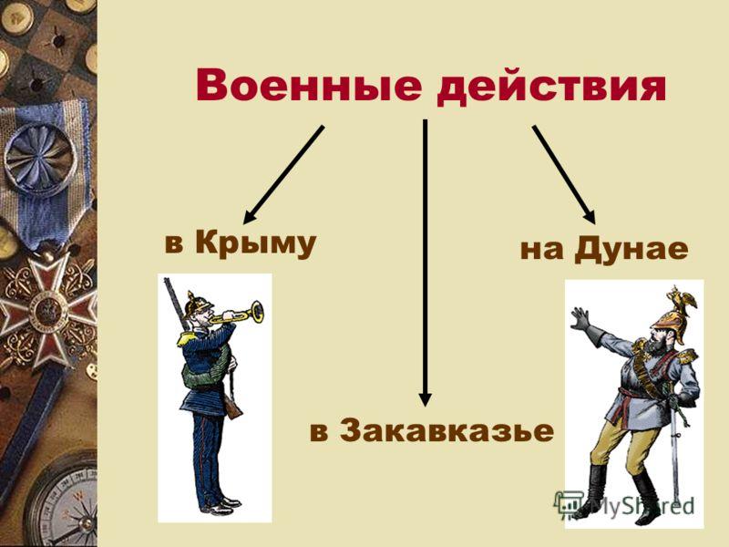 Военные действия в Крыму на Дунае в Закавказье
