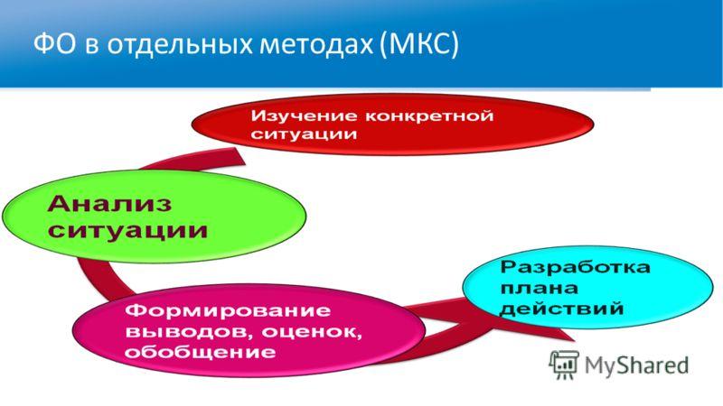 ФО в отдельных методах (МКС)
