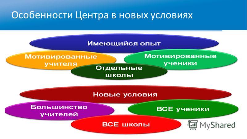 Особенности Центра в новых условиях
