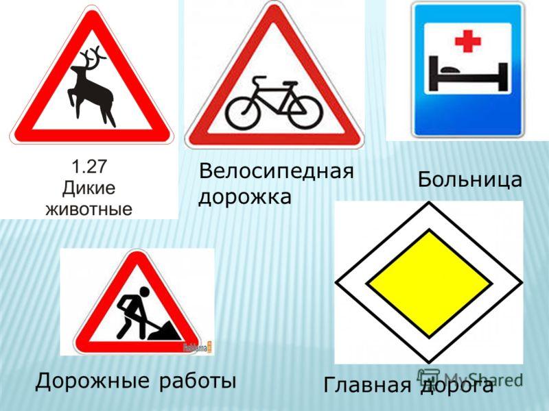 Велосипедная дорожка Больница Главная дорога Дорожные работы