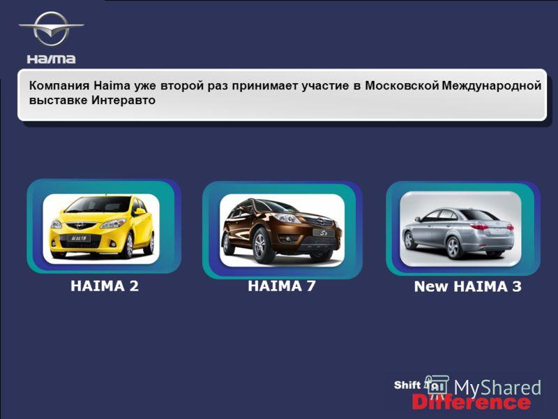 Компания Haima уже второй раз принимает участие в Московской Международной выставке Интеравто New HAIMA 3 HAIMA 2HAIMA 7