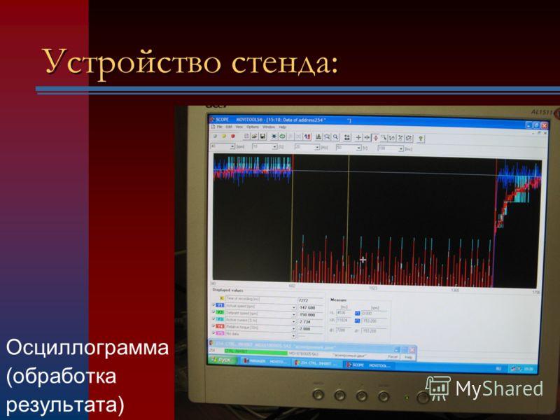 Устройство стенда: Осциллограмма (обработка результата)
