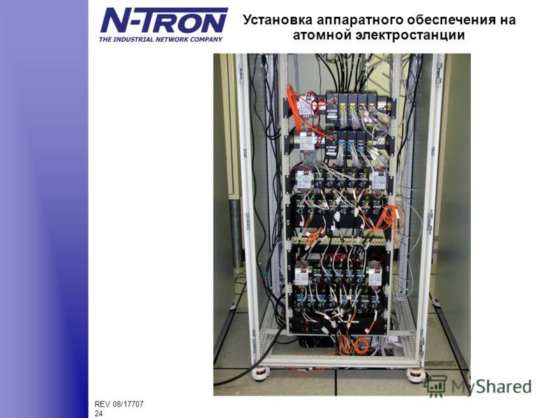 REV 08/17707 24 Установка аппаратного обеспечения на атомной электростанции
