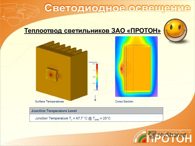 Теплоотвод светильников ЗАО «ПРОТОН»