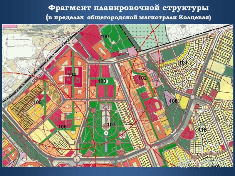 Фрагмент планировочной структуры ( в пределах общегородской магистрали Колцевая) 17