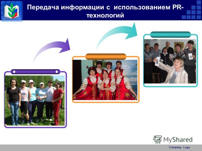 Передача информации с использованием РR- технологий Company Logo