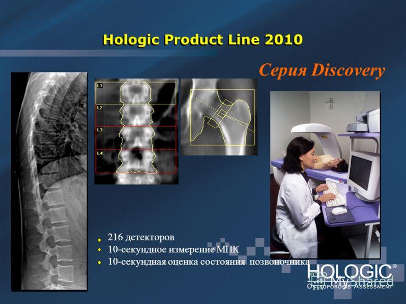 Hologic Product Line 2010 216 детекторов 10-секундное измерение МПК 10-секундная оценка состояния позвоночника Серия Discovery