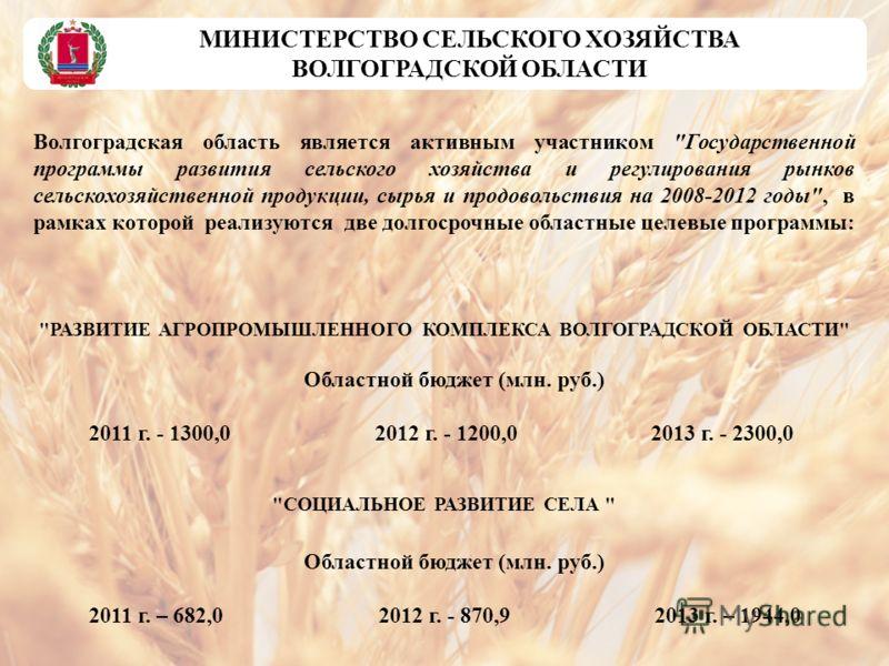 Волгоградская область является активным участником