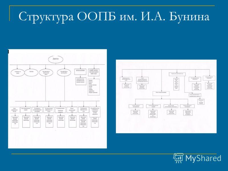Структура ООПБ им. И.А. Бунина
