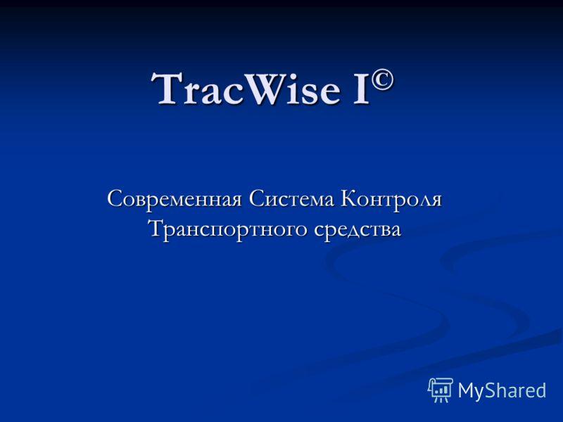 TracWise I © Современная Система Контроля Транспортного средства