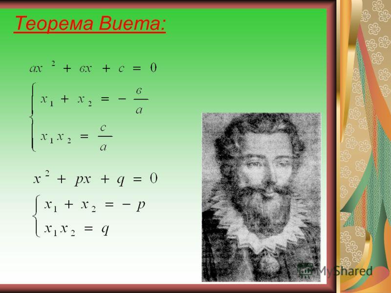 Теорема Виета: