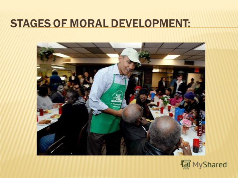 STAGES OF MORAL DEVELOPMENT: