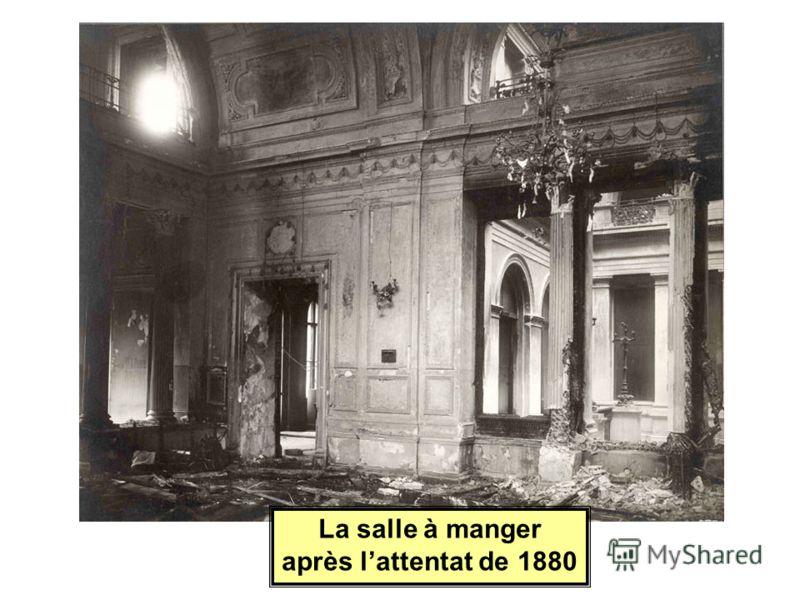 La salle à manger après lattentat de 1880