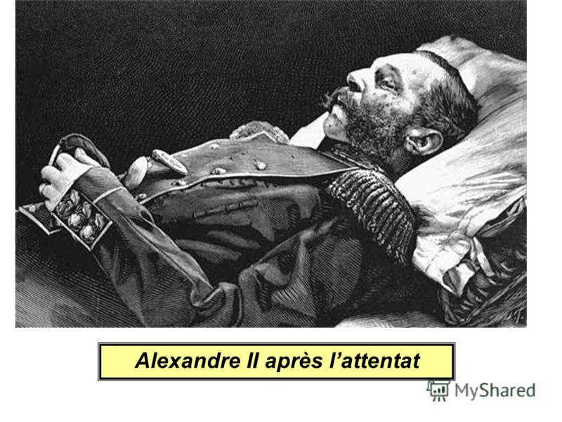 Alexandre II après lattentat
