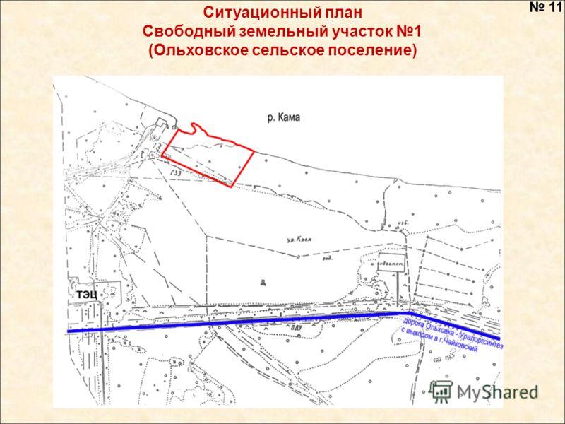 Ситуационный план Свободный земельный участок 1 (Ольховское сельское поселение) 11