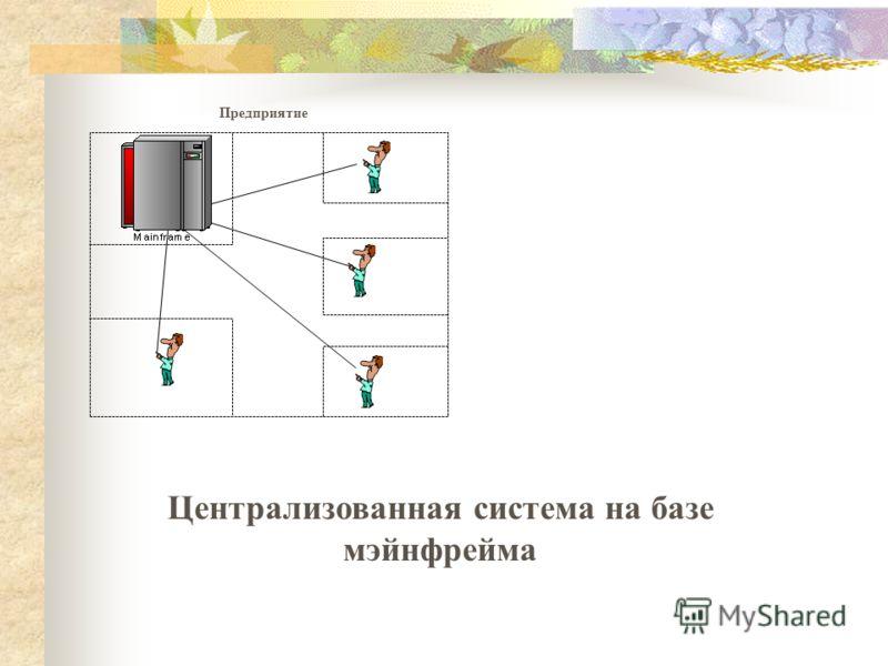 ВЦ на базе мейнфрейма Предприятие Централизованная система на базе мэйнфрейма