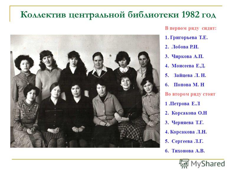 В читальном зале: Библиотекарь Корсакова Ольга Практикантка Викторова Вера (1980)