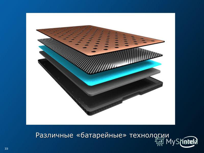 Различные «батарейные» технологии 33