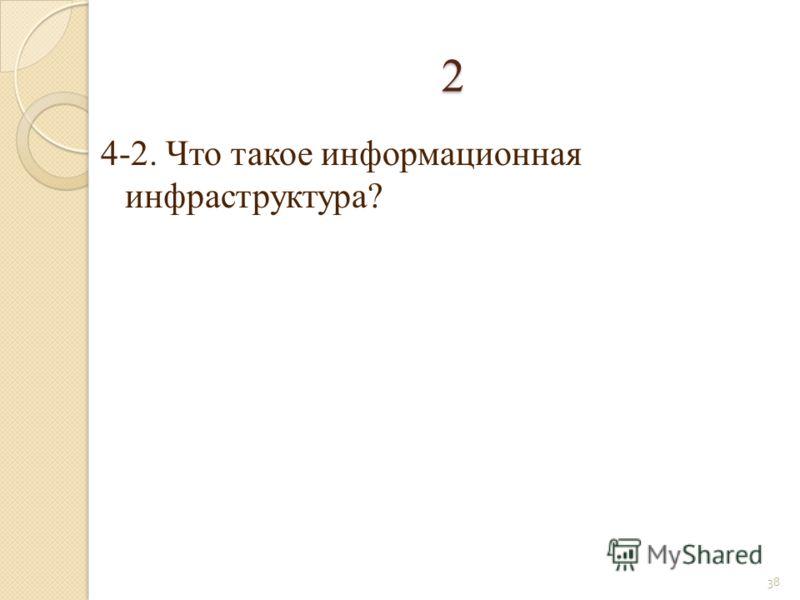 4-2. Что такое информационная инфраструктура? 38 2