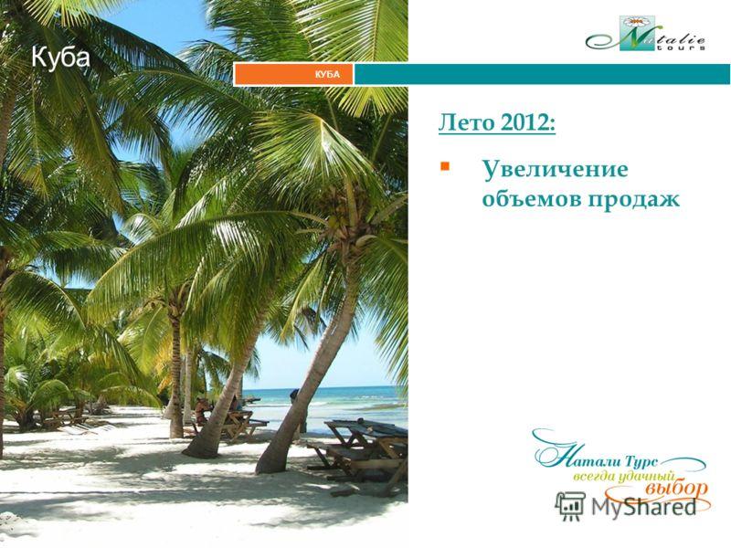 Итальянские Альпы КУБА Куба Лето 2012: Увеличение объемов продаж