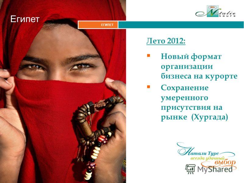 Итальянские Альпы ЕГИПЕТ Египет Лето 2012: Новый формат организации бизнеса на курорте Сохранение умеренного присутствия на рынке (Хургада)
