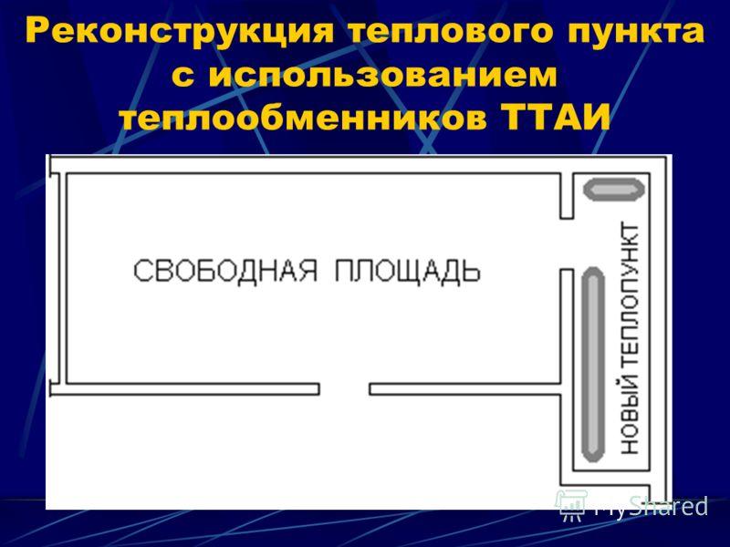 Реконструкция теплового пункта с использованием теплообменников ТТАИ