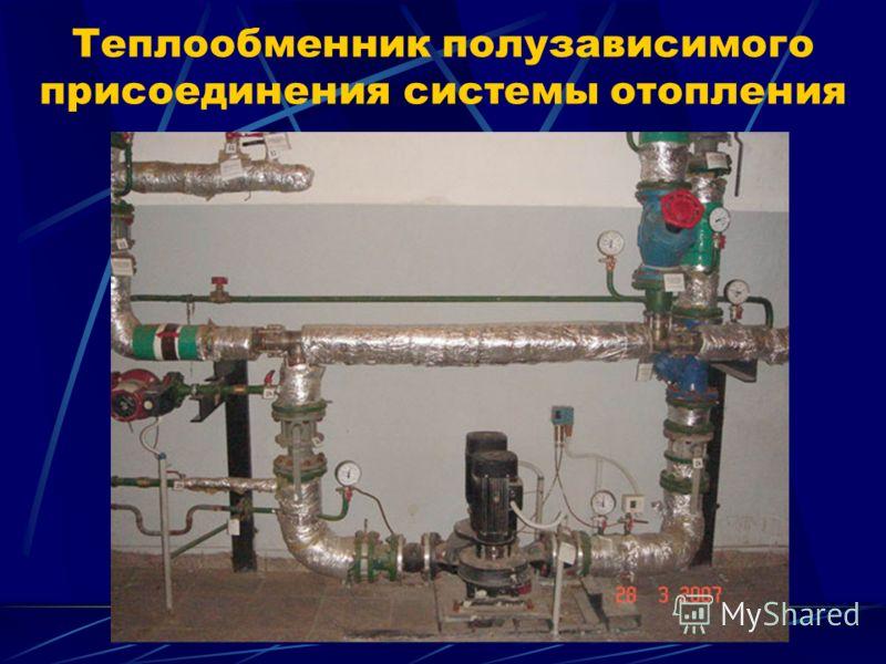 Теплообменник полузависимого присоединения системы отопления